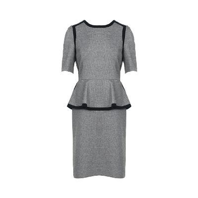 black point peplum line dress
